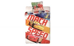 Lenjerie de pat Disney Cars Speed LC04 140x200cm (Bumbac)