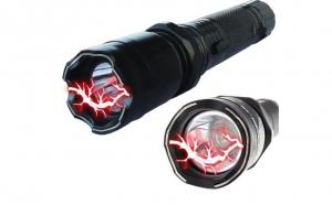 Cel mai bun instrument de autoaparare: lanterna-electrosoc Police, la doar  49 RON in loc de 168 RON. Vezi video