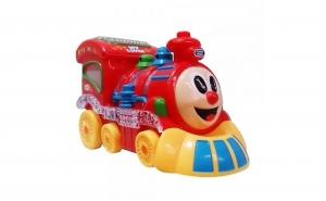 Locomotiva interactiva cu sunete, luminisi miscare, varsta 3 ani+, multicolora