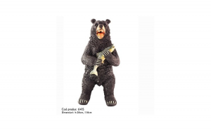 Statueta Urs in picioare cu peste in