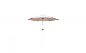 Umbrela soare antivant pentru gradina, terasa 2.5 m, mecanism manual, Crem