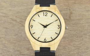 Ceas de Lemn Casual Wood Watch WD-37 Curea Piele Naturala Bambus Japan, la 199 RON in loc de 449 RON