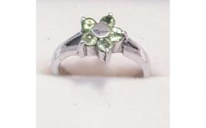 Inel din Argint cu Peridote - marimea 54