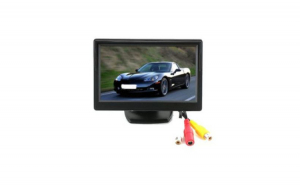 Set Suport numar inmatriculare, cu camera video marsarier + monitor LCD, 5 inch