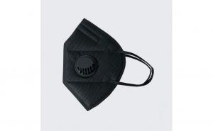 Set 5x masca de protectie tip kn95, neagra, cu valva