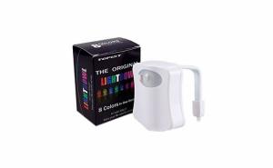 Lampa LED multicolora pentru toaleta