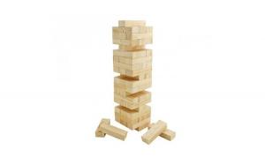 Joc de indemanare tip Jenga - Turnul instabil (din lemn)