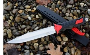 Cutit baioneta 34 cm, cu teaca din material PVC