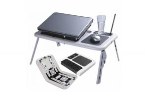 Masa laptop E-Table cu 2 ventilatoare si