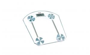 Cantar de baie electronic cu afisaj temperatura Victronic -RSP34, 180 kg, platforma de sticla, transparent