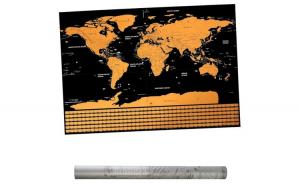 Harta lumii razuibila Deluxe Negru
