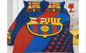 Lenjerie de pat FC Barcelona, la 149 RON in loc de 250 RON