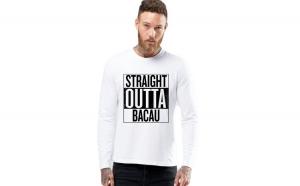 Bluza barbati alba - Straight Outta Bacau