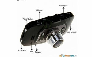 Camera video auto DVR H600 – FULL HD 1080P la doar 199 RON in loc de 500 RON. Card 16 GB cadou