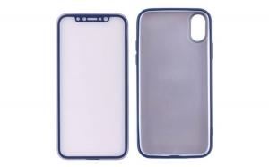 Husa iPhone X / 10 Flippy Full Cover Silicon 360, Albastru + Folie de protectie cadou