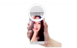 Inel luminos selfie