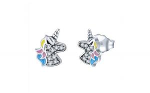 Cercei din argint 925 cu Unicorn