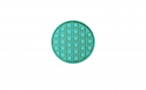 Jucarie senzoriala din silicon Pop it Fidget Toy Pop Bubble antistres turquoise