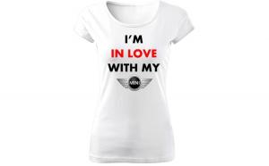 Tricou de dama ALB In love with mini