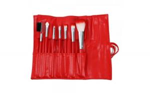 Set 7 Pensule Profesionale Luxury pentru Machiaj, Red Cherry