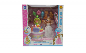 Set Papusa cu tort Princess birthday
