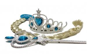 Peruca + Set accesorii Elsa Frozen