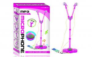 Set 2 Microfoane cu stativ, boxa si MP3