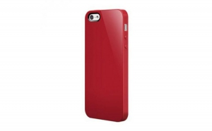 Husa si folie iPhone 5 / 5S Super Glossy Red