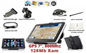 GPS Auto 7 inch HD, 800MHZ/FM/4GB, Electronice si Electrocasnice