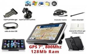 GPS Auto 7 inch HD, 800MHZ/FM/4GB, Siguranta ta conteaza!