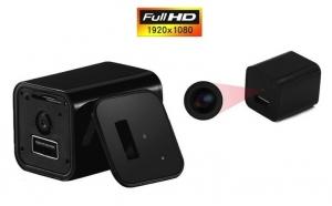 Incarcator de priza - cu camera spion HD si functie de detectare a miscarii