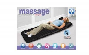 Saltea masaj cu telecomanda, prevazuta cu 4 zone de masaj pentru 9 puncte ale corpului