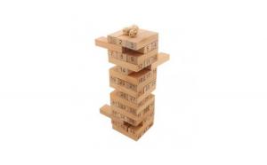 Joc Jenga Stack high, 51 piese din lemn,