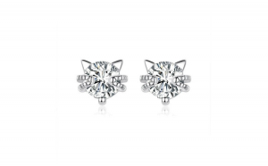Cercei din argint 925 Cute Cat Ear