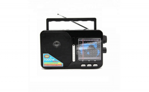 Radio Portabil AM/FM/SW1-7 9 Benzi, Acumulator Inclus, USB/TF/SD Card, Soundvox™ FP-1821U, Negru