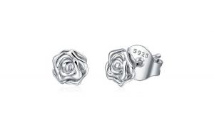 Cercei din argint 925 Romantic Rose Flower