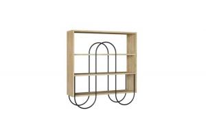 Consola living Quasar & Co., 96 x 25,5 x 99 cm, lemn/metal, stejar