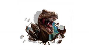 Sticker decorativ cu Dinozaur, 95 cm,