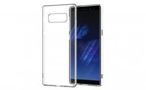Husa compatibila Samsung Galaxy Note 8 TPU 0.3 mm, transparent