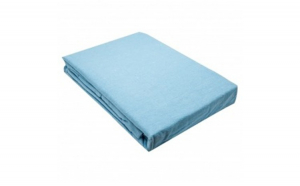 Cearceaf cu elastic 100% bumbac jersey HPJ2 albastru pentru saltea de 180x200 cm