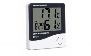 Ceas digital cu termometru si higrometru interior/exterior
