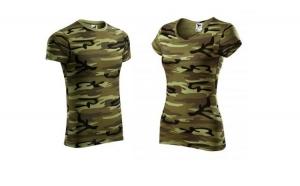 Set tricouri camuflaj verde - pentru El si Ea - din Bumbac 100%