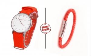 Set ceas + bratara barbati ADRIEN MARAZZI - Red 2016, la 120 RON in loc de 520 RON