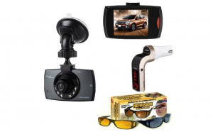 Camera auto profesionala, Full HD 1080P, DVR LCD, Night Vision G-Sensor + Car Kit G7 + 2 x Ochelari auto