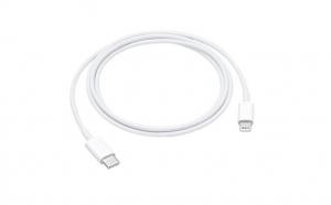 Cablu de date original Apple Lightning - USB Type C, 1m, Alb MK0X2AM/A