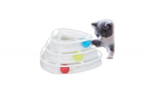 Jucarie interactiva pentru pisici cu minge
