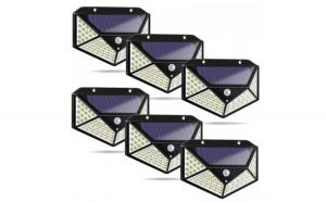 Set 6 lampi solare 100 LED, senzor