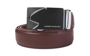 Curea barbati din piele Adrien Marazzi AM-2701 (MARO-ARGINTIU)