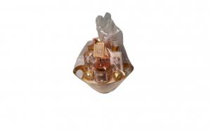 Set cadou in vas auriu cu 6 produse cu aroma maslin si smochin