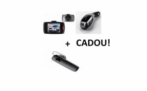 Pachet auto: camera auto + modulator fm + casca bluetooth